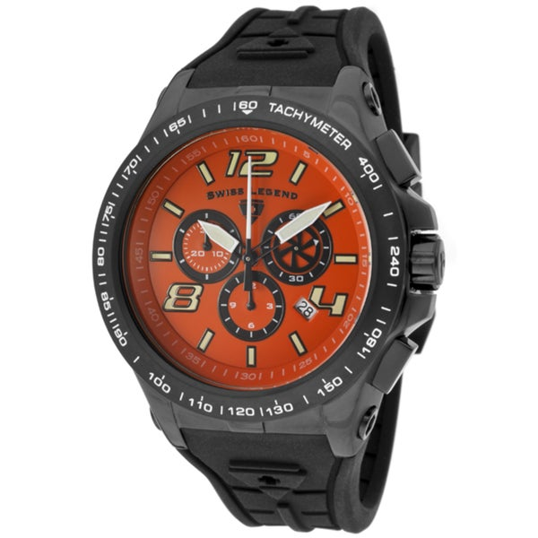 Swiss Legend Men's 'Sprint Racer' Black Silicone Watch