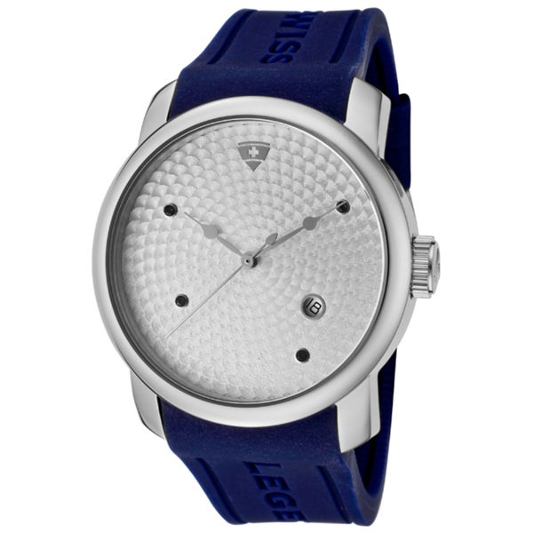 Swiss Legend Men's 'Planetimer' Blue Silicone Watch