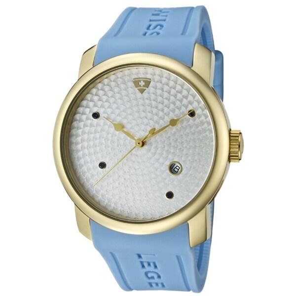 Swiss Legend Men's 'Planetimer' Baby Blue Silicone Watch