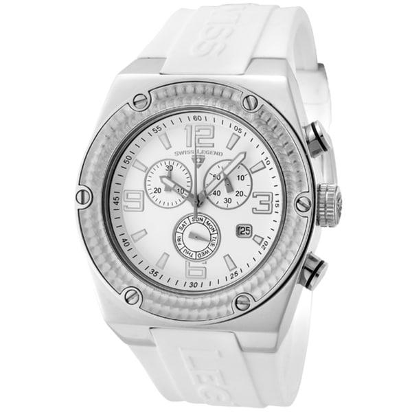 Swiss Legend Men's 'Throttle' White Silicone Watch