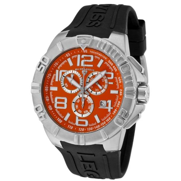 Swiss Legend Men's 'Super Shield' Black Silicone Watch