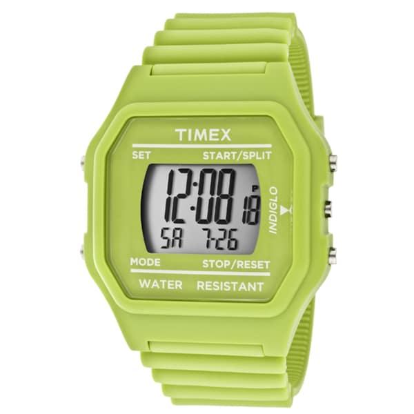 Timex Unisex Green Ers Rubber Watch