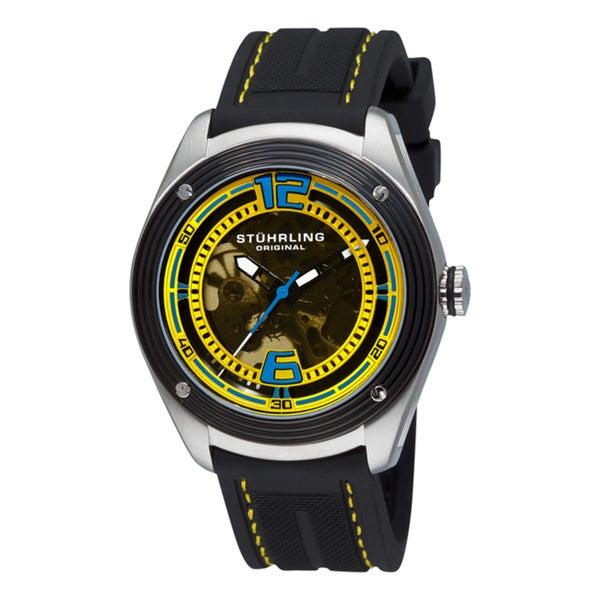Stuhrling Original Men's 'Millennia Conquest' Black Rubber Watch