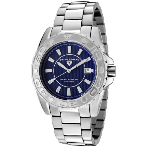 Swiss Legend Men's 'Grande Sport' Stainless Steel Watch