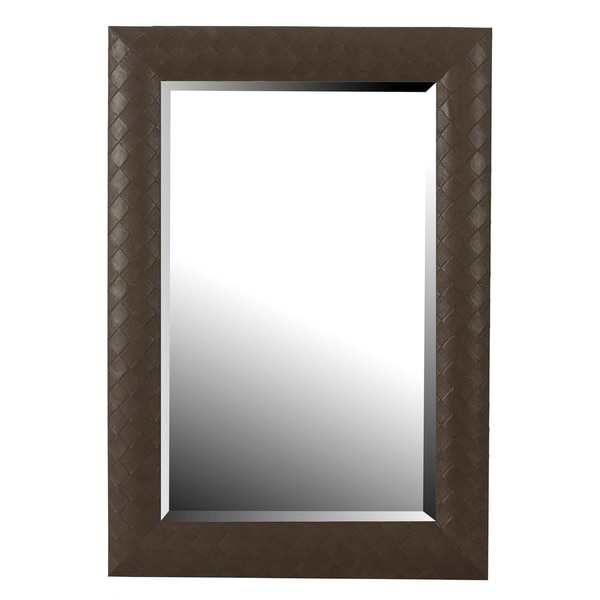 'Whip' Leather Wall Mirror
