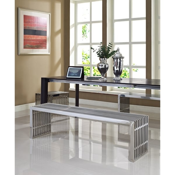 Gridiron Style Stainless Steel Small and 2 Large Bench Set
