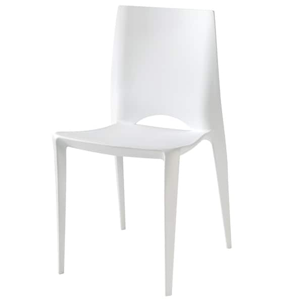 Amenity White Plastic Chair