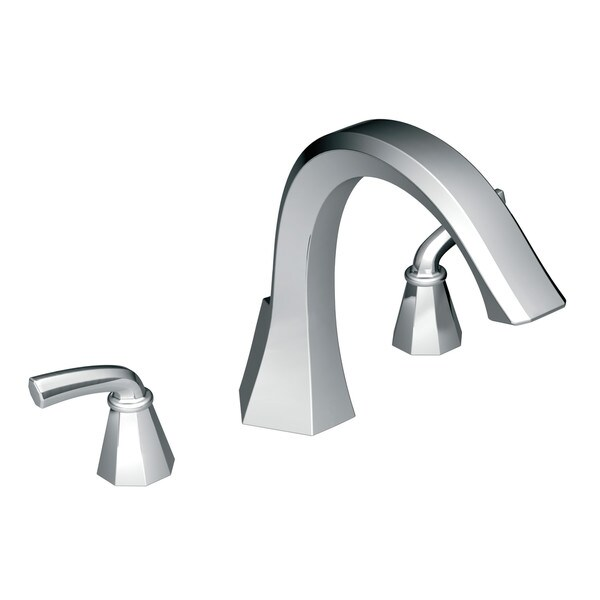 Moen Chrome Two-Handle High Arc Roman Tub Faucet