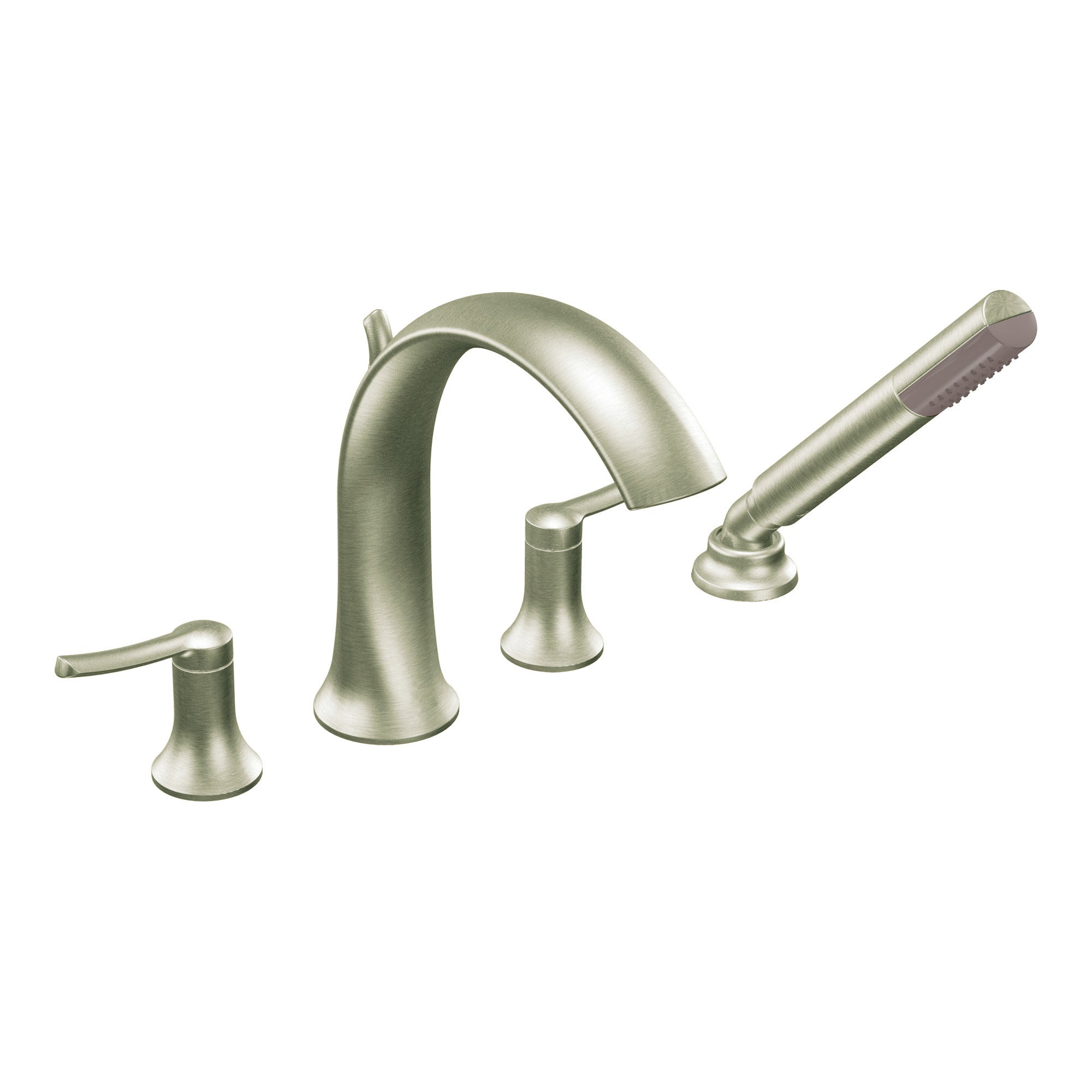 Moen Brushed Nickel Two-handle High Arc Faucet