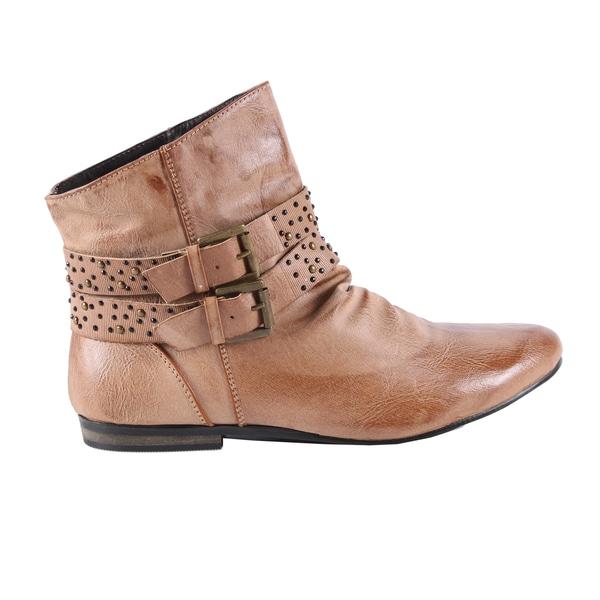 Jacobies by Beston Women's Camel 'Pisa-10' Ankle Bootie