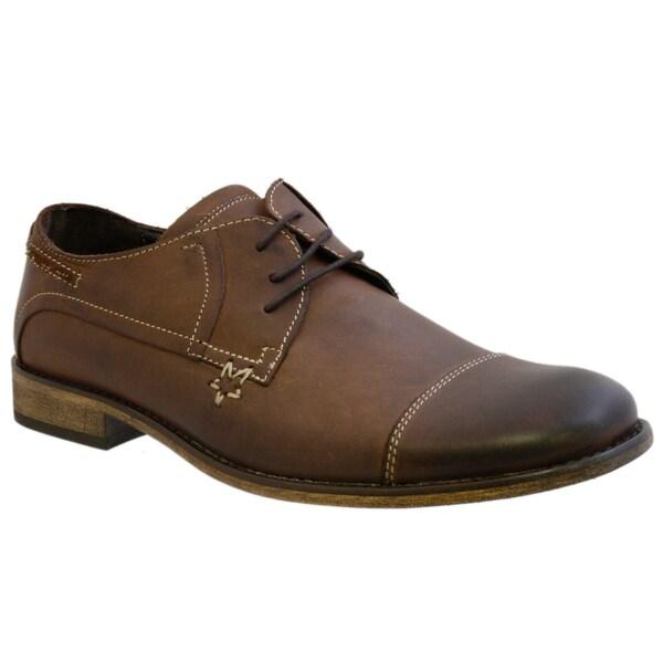 Giorgio Brutini Men's Brown Leather Oxfords