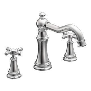 Moen Chrome Two-Handle High Arc Roman Tub Faucet