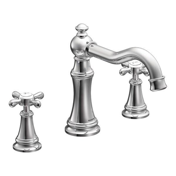 Moen Weymouth Two-Handle Roman Tub Faucet, Chrome (TS22101)