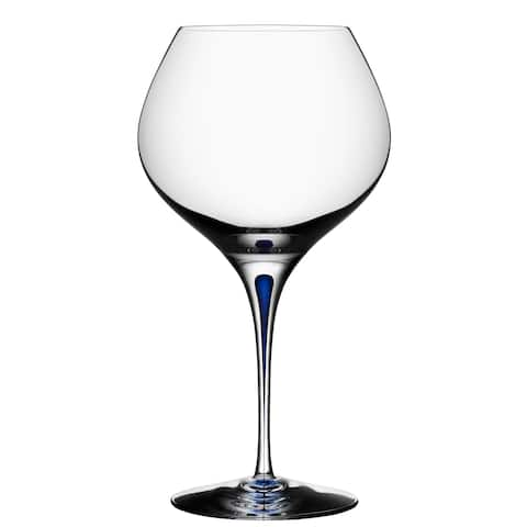 Orrefors Intermezzo Blue Bouquet Red Wine Glass