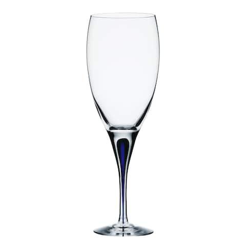 Orrefors Intermezzo Blue White Wine Glass