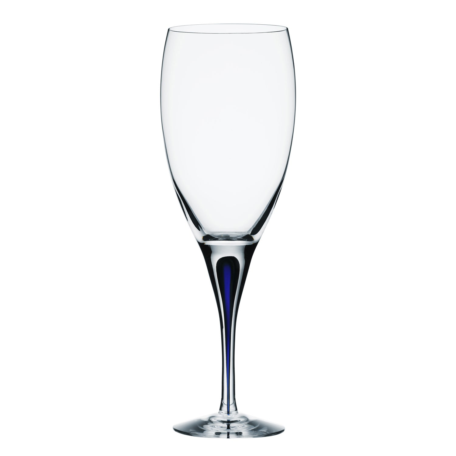 Orrefors Intermezzo Blue White Wine Glass