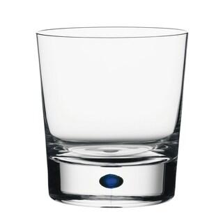 Orrefors Intermezzo Blue Double Old Fashion Glass