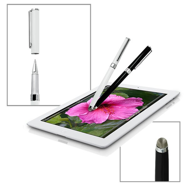 Dual-purpose Micro-knit Technology Capacitive Stylus Fine Rollerball Ink Pen Touch Screen Devices