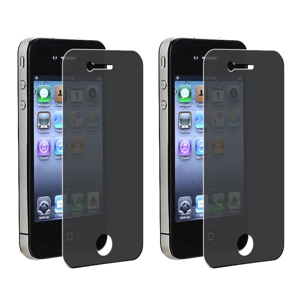 INSTEN Privacy Filter Screen Protector for Apple iPhone 4/ 4S (Pack of 2)