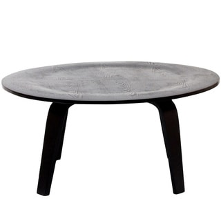 Circular Lightly Beveled Mid-century Style Coffee Table