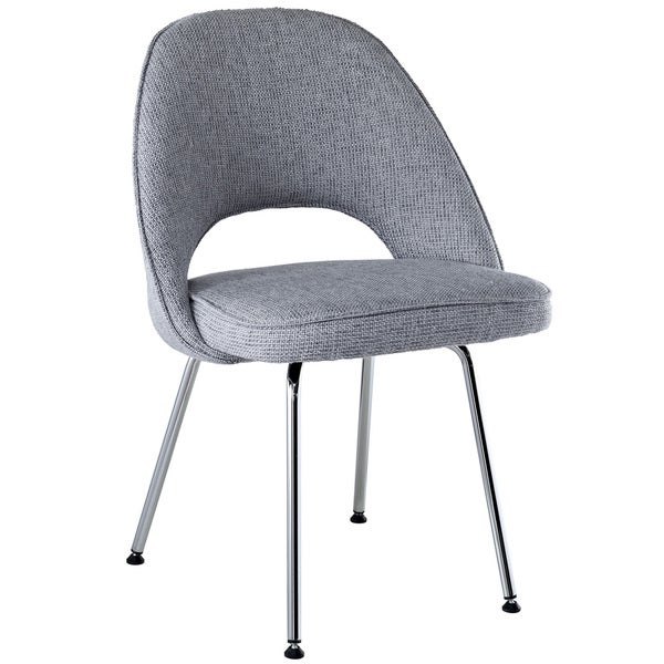 Light Grey Fabric Side Chair