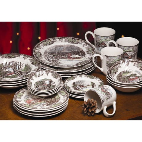 Friendly Village 28-piece Dinnerware Set