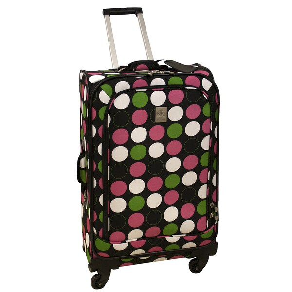Jenni Chan Multi Dots 25-inch 360 Quattro Spinner Upright Suitcase