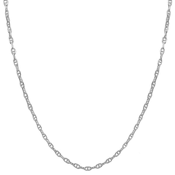 Fremada Sterling Silver 1.9mm Flat Mariner Link Chain (16-36 inch)