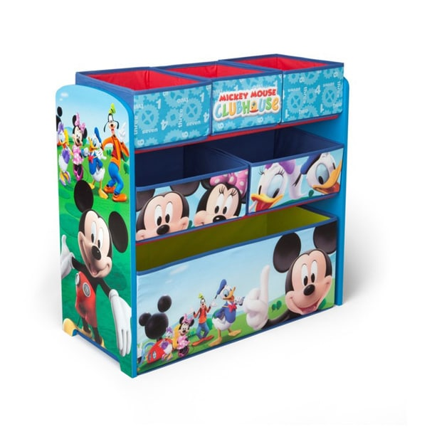 Disney Mickey Mouse Multi Bin Toy Organizer   Multi