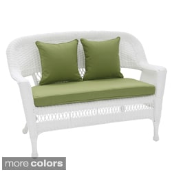 Patio Loveseat Cushion with Pillows