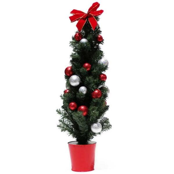 Potted Artificial Tree with Ornaments (48-inch)