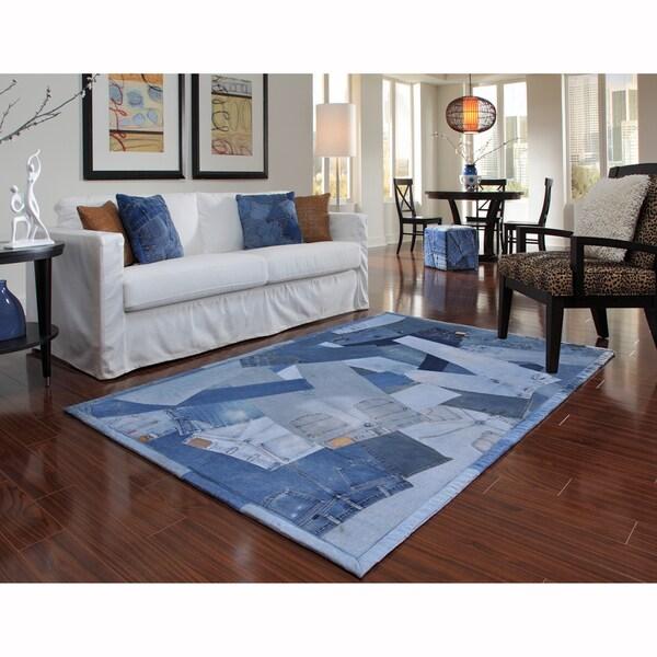 Beaufort Denim Blue Full Rug (3'6 x 5'6)