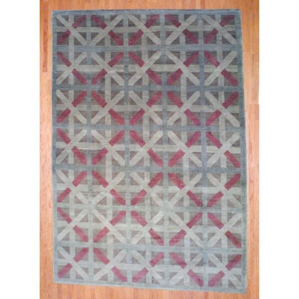 Handmade Herat Oriental Tibetan Wool Rug - 10' x 14'4 (China)