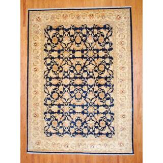 Herat Oriental Afghan Hand-knotted Vegetable Dye Wool Rug (9'3 x 13')