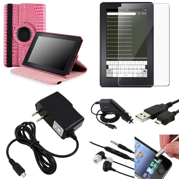 BasAcc Case/ Screen Protector/ Headset/ Stylus for Amazon Kindle Fire
