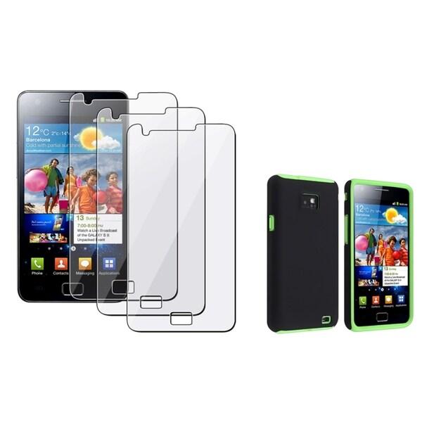 BasAcc Green Case/ Screen Protector for Samsung© Galaxy S2 i9100