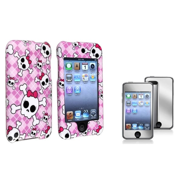 BasAcc Cute Skull Case/Screen Protector for Apple iPod Touch Generation 2/3