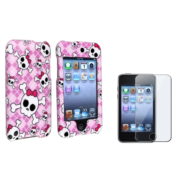 BasAcc Hard Plastic Case/Screen Protector for Apple iPod Touch Generation 2/3