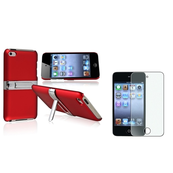 BasAcc Snap-On Red Case/Screen Protector for Apple iPod Touch Generation 4