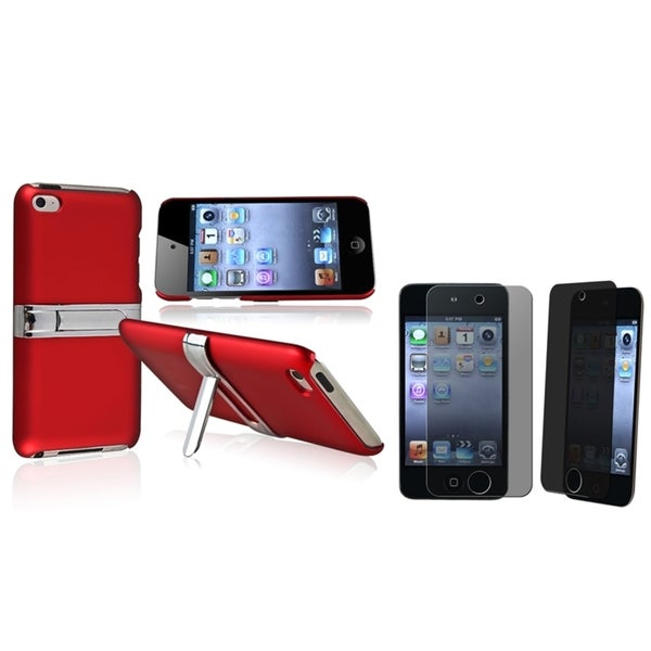 BasAcc Red Case/ Privacy Protector for Apple® iPod Touch Generation 4