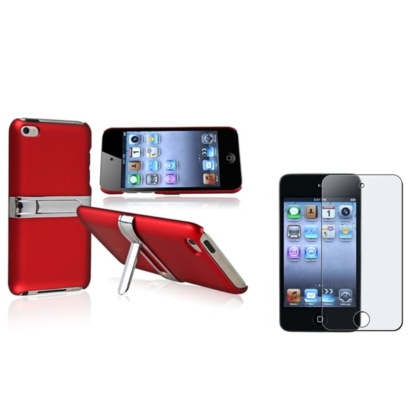 BasAcc Red Case/Screen Protector for Apple iPod Touch Generation 4