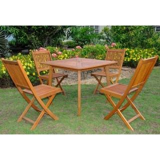 International Caravan Royal Tahiti Montalbo 5-piece Outdoor Dining Set