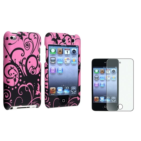 INSTEN Protective iPod Case Cover/ Screen Protector for Apple iPod Touch Generation 4