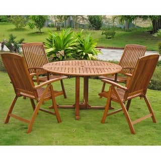 International Caravan Royal Tahiti Teruel 5-Piece Patio Dining Set