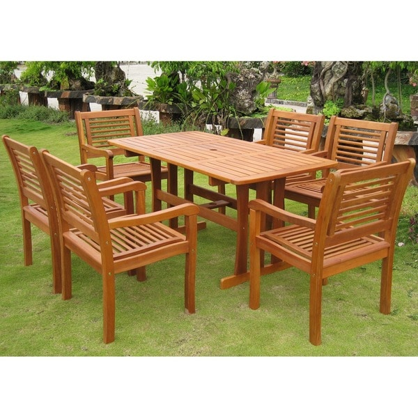 International Caravan Royal Tahiti Baza 7-Piece Outdoor Dining Set