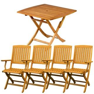 International Caravan Royal Tahiti Tarragona 5-Piece Folding Outdoor Dining Set