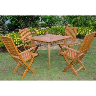 International Caravan Royal Tahiti Sabrosa 5-Piece Outdoor Dining Set