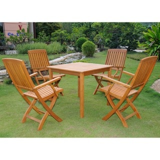 International Caravan Royal Tahiti Benevente 5-Piece Outdoor Dining Set