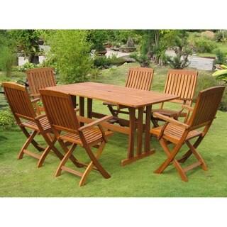 International Caravan Royal Tahiti Merida 7-Piece Outdoor Dining Set