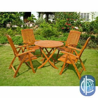 International Caravan Royal Tahiti Cartagena 5-Piece Patio Dining Set